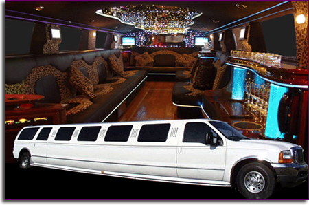 ford excursion 4x4 limo interior