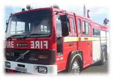 Red Fire Engine limousine hire in UK