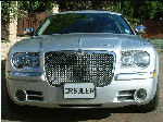 Chauffeur stretched silver Chrysler C300 Baby Bentley limousine hire in Sheffield, Rotherham, Doncaster, Chesterfield, South Yorkshire