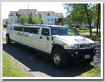 Chauffeur stretched white Hummer H2 limousine hire in London, Berkshire, Surrey, Buckinghamshire, Hertfordshire, Essex, Kent, Hampshire, Northamptonshire