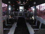 Chauffeur driven Party Bus limo hire interior in Birmingham, Coventry, Dudley, Wolverhampton, Telford, Worcester, Walsall, Stafford, Midlands