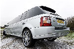 Chauffeur stretched silver Range Rover Sport limousine hire in Glasgow, Edinburgh, Scotland